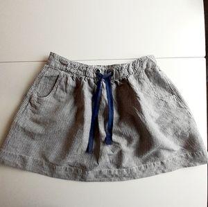 J Crew Striped Mini Skirt